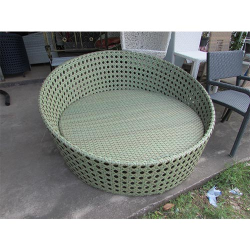 1.5M DIAMETER 2 SEATER ROUND SEAT, INCLUDES CUSHION, 1.2 MM ALUMINIUM, THAI SYNTHETIC RATTAN