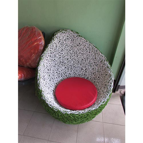 SINGLE SEAT MADE WITH 1.2MM ALUMINUM AND THAI SYNTHETIC RATTAN INCLUDES CUSHION