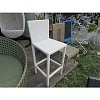BAR STOOL 1.2MM ALUMINUM AND THAI SYNTHETIC RATTAN