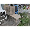 DINING CHAIR WITHOUT ARMS, 1.2MM ALUMINUM THAI SYNTHETIC RATTAN